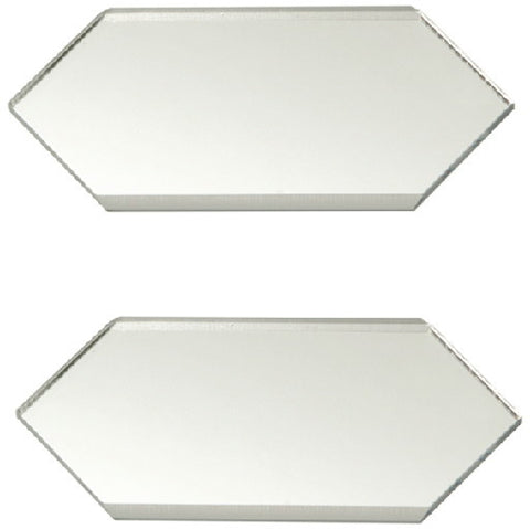 Acrylic Mirror Edge Extender Cover Plate, 2 Plates Per Pack