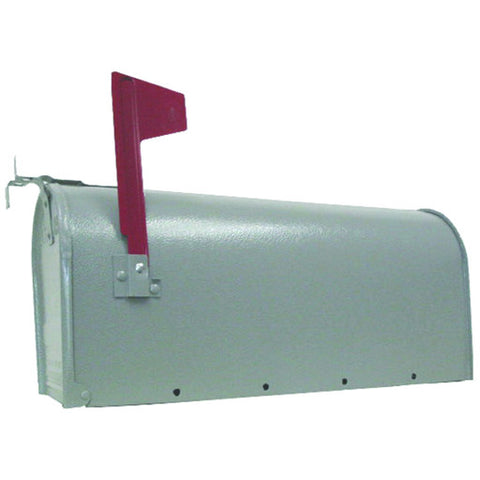 U.S. #1 Rural Mailbox, Galvanized Steel Gray