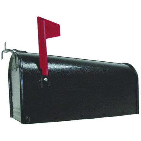 U.S. #1 Rural Mailbox, Galvanized Steel Black