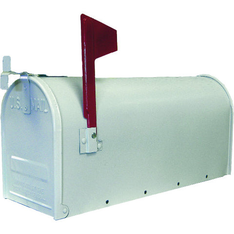 U.S. #1 Rural Mailbox, Galvanized Steel White