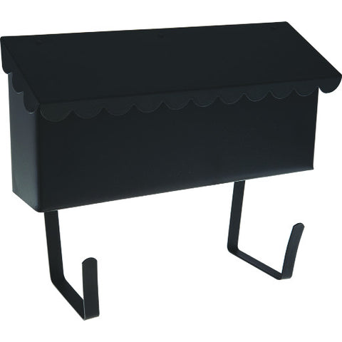 Mailbox Horizontal Black Satin