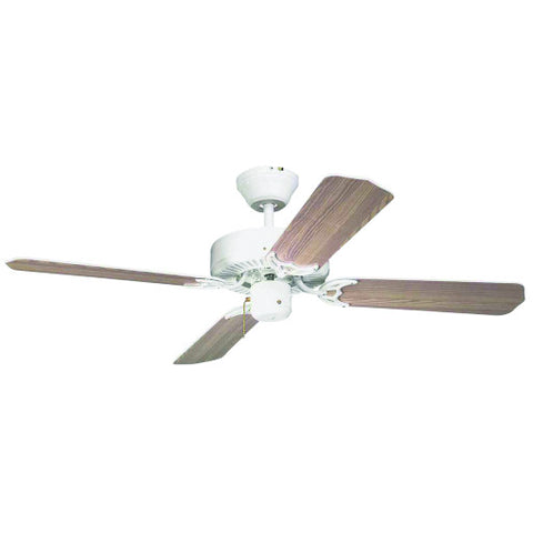 "42"" White Light Kit-Adaptable 4-Blade Ceiling Fan with Reversible White/Whitewashed Blades"