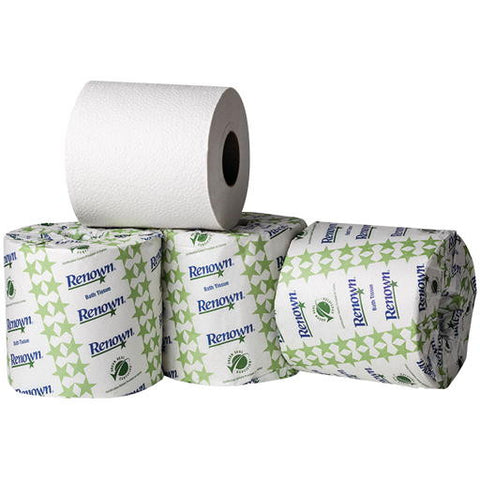 "4-3/8"" x 3-3/4"" White Renownå¨ 2-Ply Bath Tissue (96 Rolls per Case)"