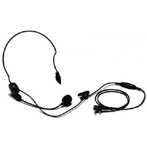 Clip Microphone Headset With Behind The Head Earphone
