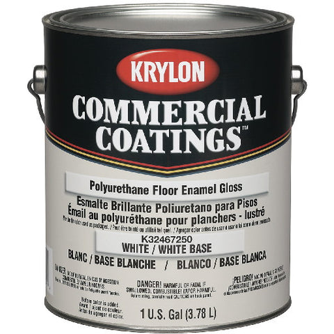 1 Gallon Battleship Gray Krylonå¨ Commercial Coatings‰ã¢ Interior/Exterior Polyurethane Floor Enamel