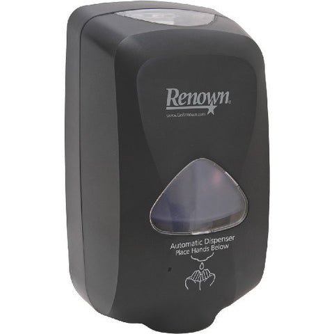 Renownå¨ Touch-Free Foam Hand Soap Dispenser, 1,200 Ml, Black