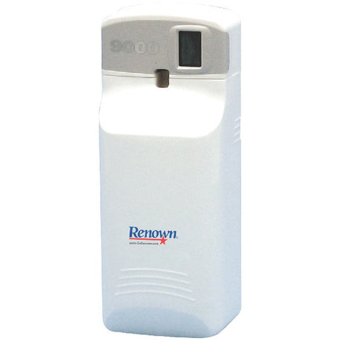 Renownå¨ 9000 Lcd Odor Control Aerosol Dispenser, White