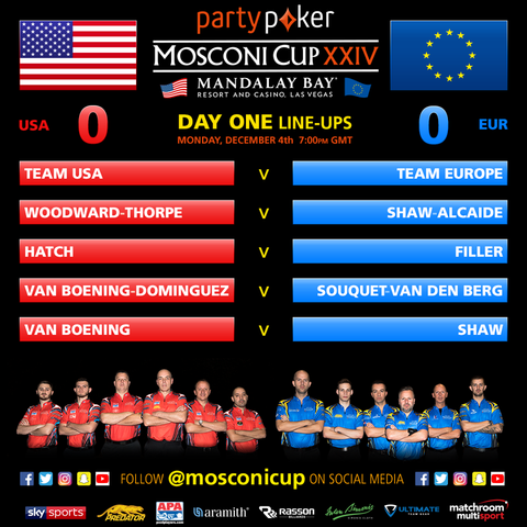 Mosconi Cup Day One Line Up 2017