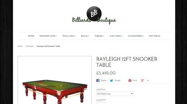 Billiards Boutique Top 10 Products In 2015 By Visitor Number