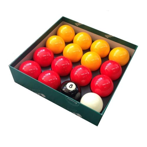 "Aramith Premier English Pool Balls | Reds and Yellows | 2"" (50.8mm)"
