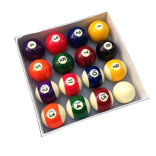 "Billiard Pro 2"" (50.8mm) American Pool Ball Set"