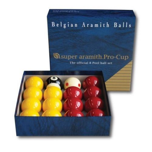"Super Aramith Pro Cup 8-Ball Pool Balls - 2"" (51mm)"