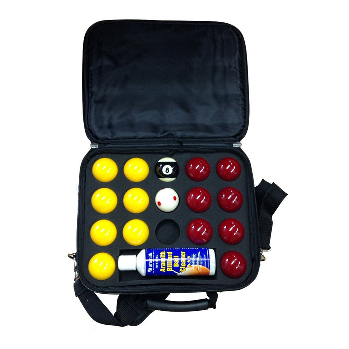 "Super Aramith Pro Cup 8-Ball Pool Balls and Case - 2"" (51mm)"