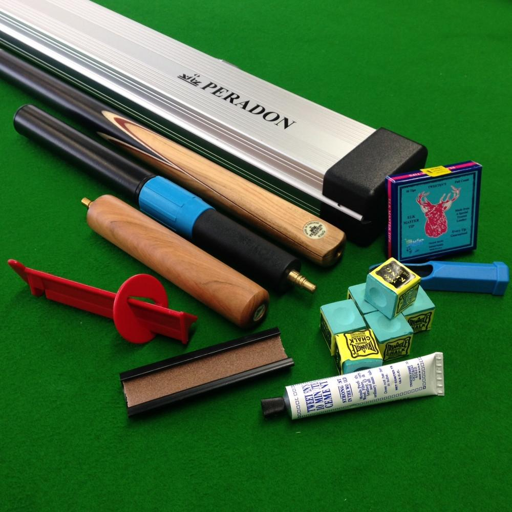 Peradon King 3/4 Jointed Snooker Cue Ultimate Starter Pack - Billiards Boutique