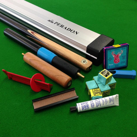 Peradon King 3/4 Jointed Snooker Cue Ultimate Starter Pack