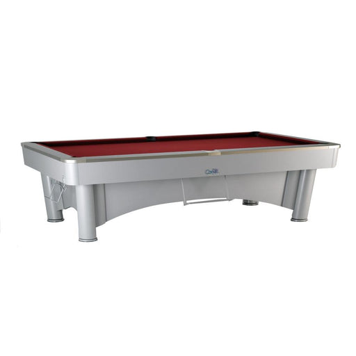 SAM K-Steel 2 American Pool Table - Silver