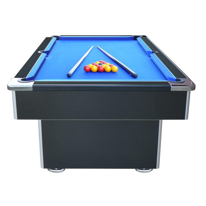 7ft Speedster Slate Bed English Pool Table | Black Finish