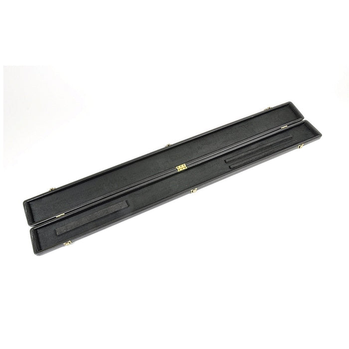 Peradon Black Leather Look Cue Case - 3/4 Jointed Cues
