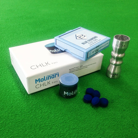 Blue Diamond Cue Tips, Molinari Cue Chalk & Cuetec Bowtie Accessory Kit