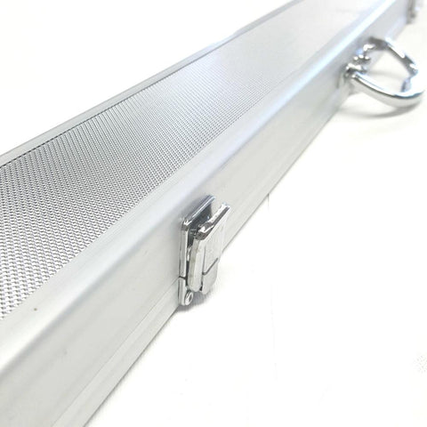 2 Piece Aluminium Cue Case - Dimple Pattern