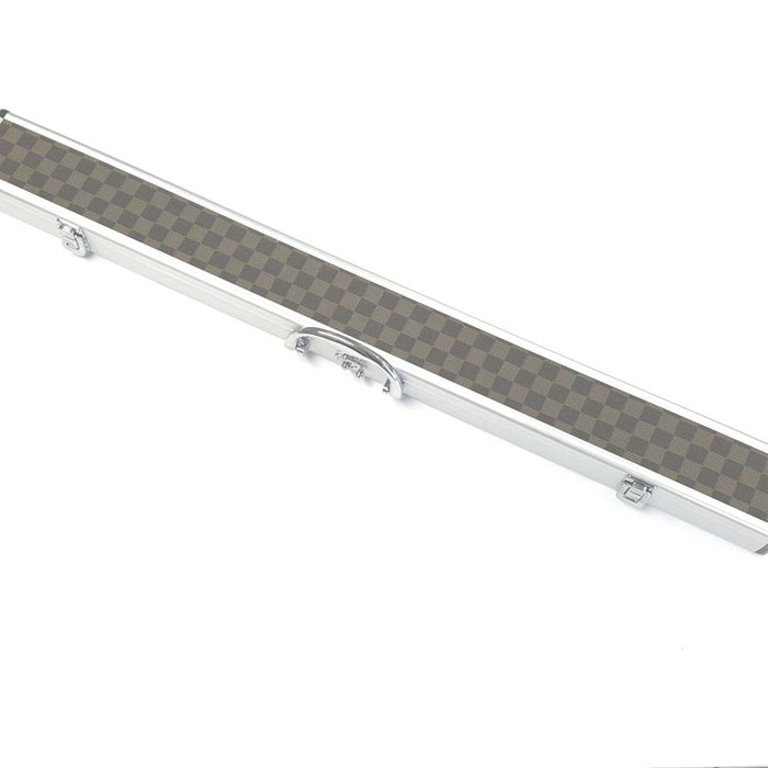 2 Piece Aluminium Cue Case - Checquered Pattern