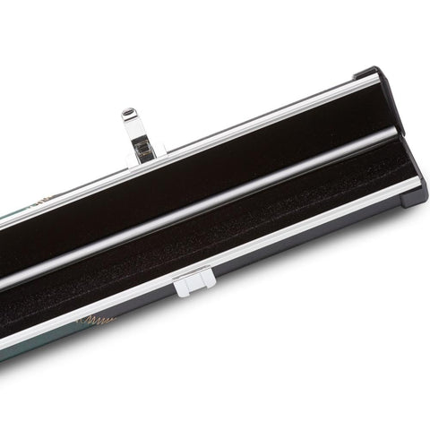 Peradon Halo 1 Piece Cue Case - Thin - Black & Green Stripe