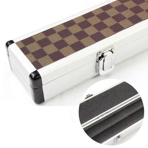 3/4 Chequered Aluminium Pool or Snooker Cue Case