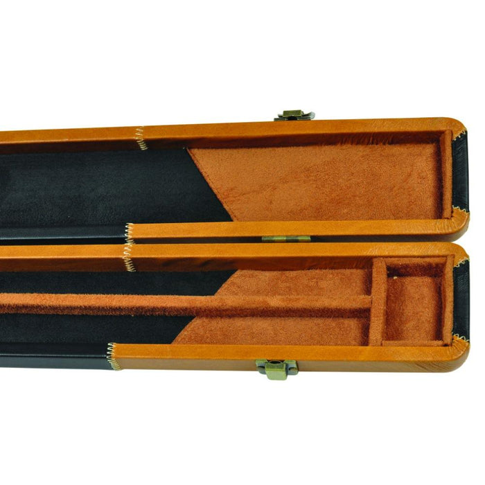 Peradon Leather Look Brown and Black Patchwork 3/4 Cue Case