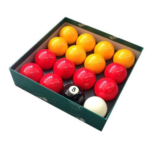 Aramith Premier Red & Yellow English Pool Balls - 1-7/8""