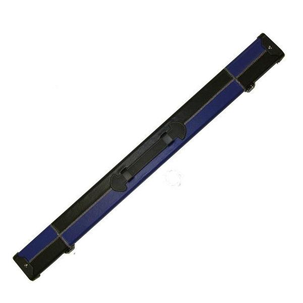Britannia 2 Piece Leatherette Cue Case - Black and Blue Patchwork