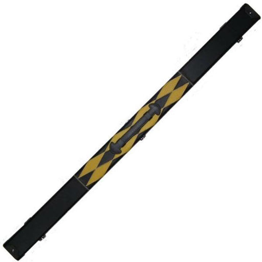 Britannia Three Quarter Leatherette Cue Case – Black and Yellow Diamond