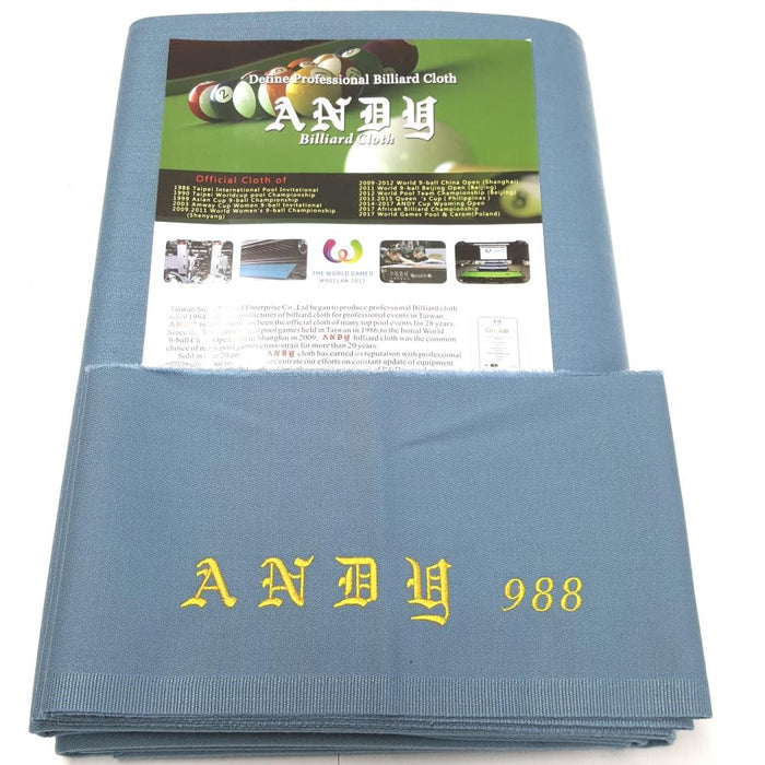 Andy 988 Cloth | Powder Blue | 9ft Bed and Cushion Pack