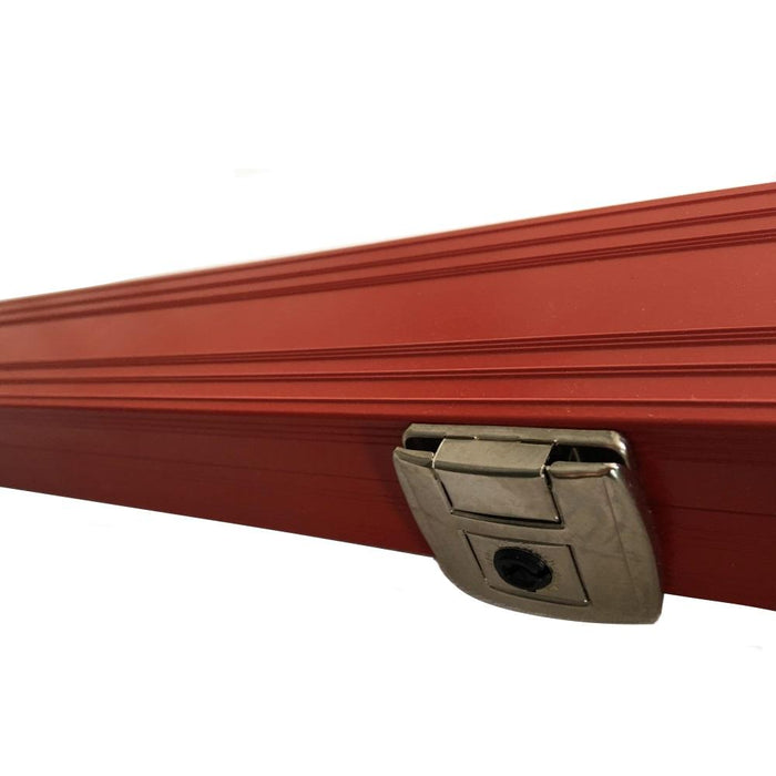 Cue Craft Superior Red Aluminium Cue Case - 1 Piece Cues