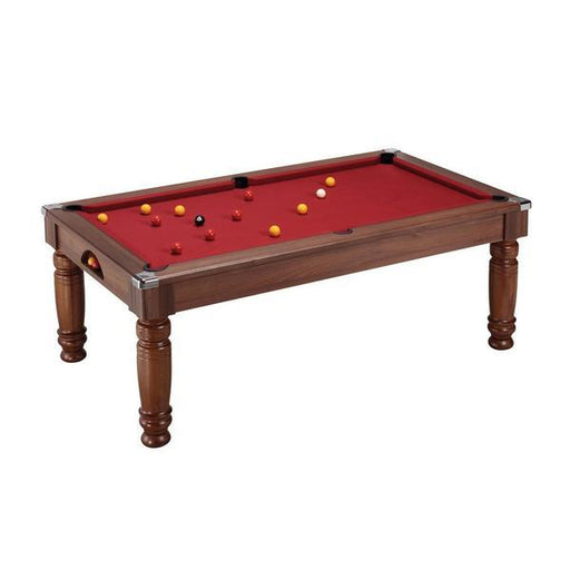 DPT Majestic Pool Dining Table - Dark Walnut - 7ft with Red Cloth