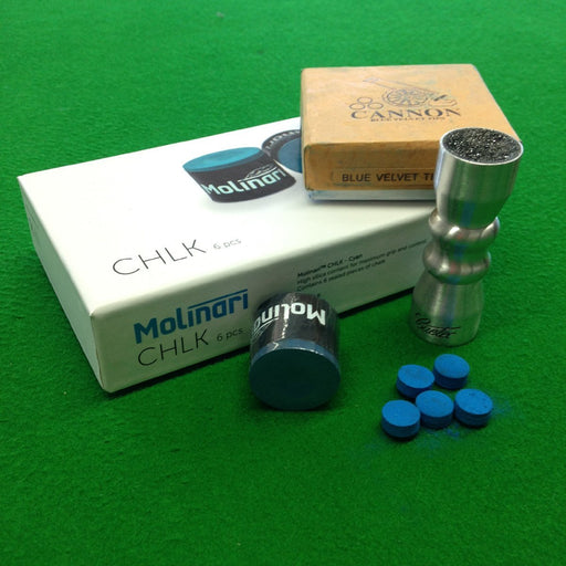 Accessory Kit - Blue Velvet Cue Tips, Molinari Cue Chalk & Cuetec Bowtie Accessory Kit