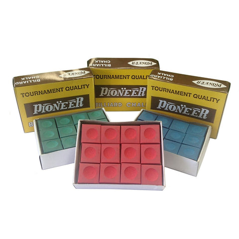 Pioneer Chalk 36 Piece Variety Pack - Red, Blue & Green