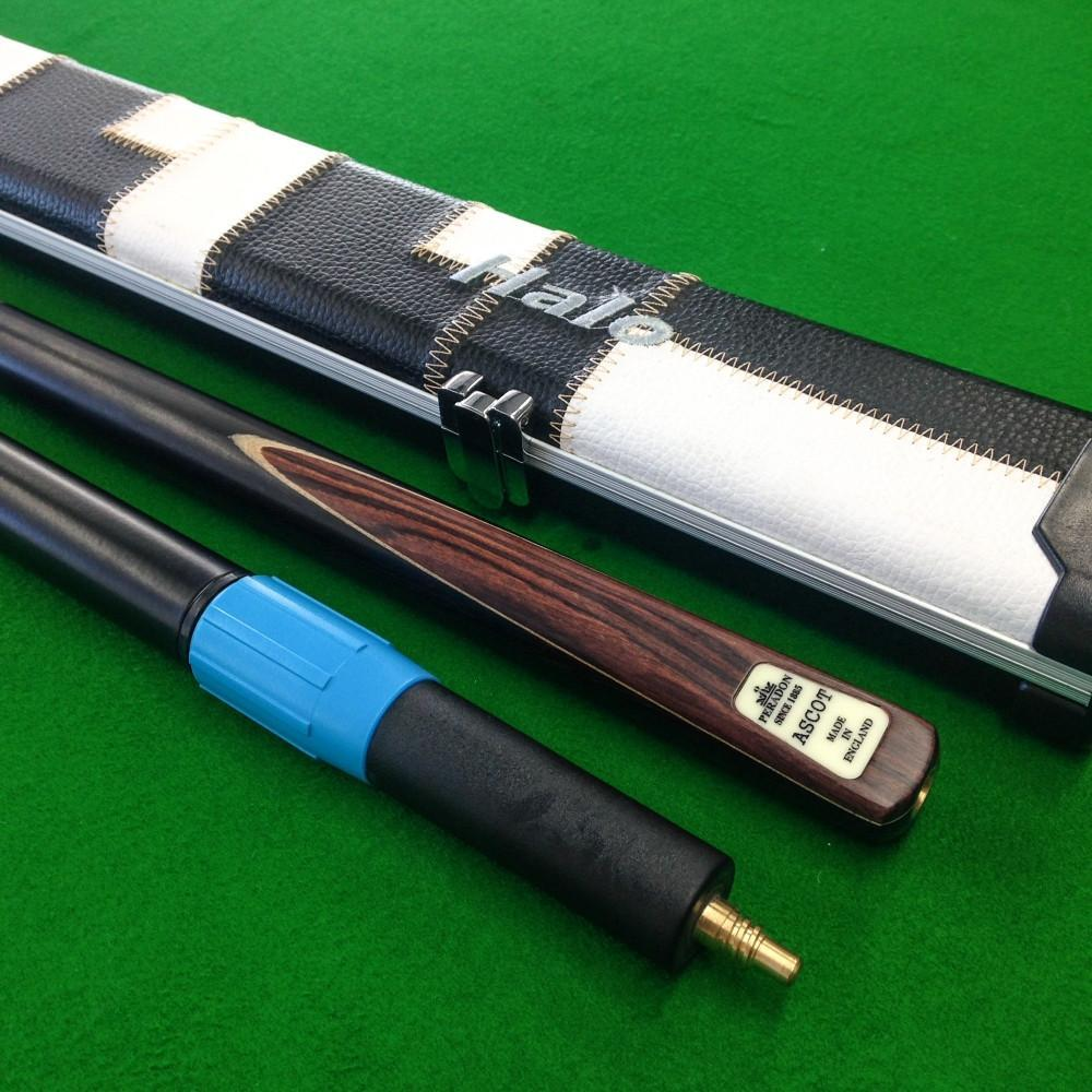 Cue & Case Packages - Peradon Ascot 3/4 Jointed Snooker Cue & Halo Cue Case Package