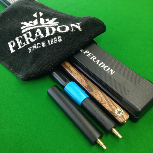 Cue & Case Packages - Peradon Chiltern 3/4 Jointed Snooker Cue & Black Aluminium Case Package