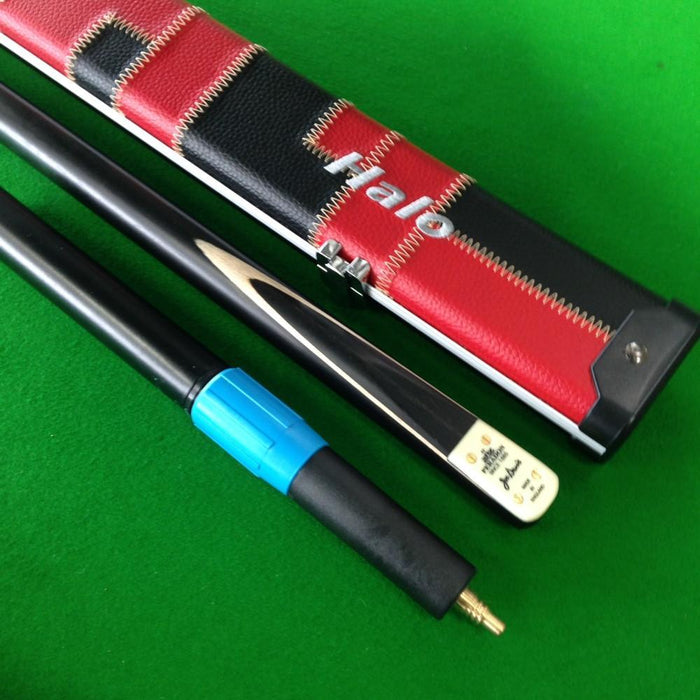 Cue & Case Packages - Peradon Joe Davis 3/4 Jointed Snooker Cue, Halo Cue Case And Extension Package