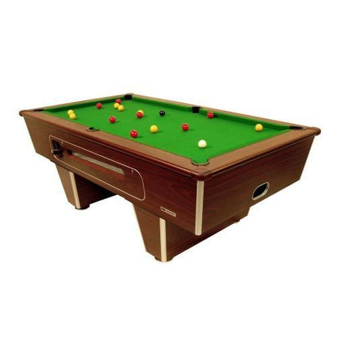 Classic Coin Operated Pool Table - Mahogany