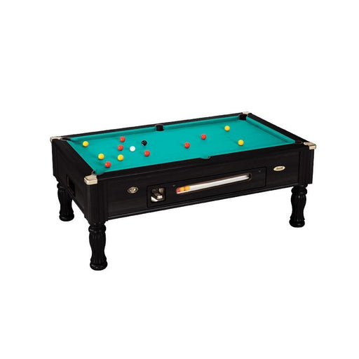 English Pool Tables - DPT Ascot Coin Operated English Pool Table - Black