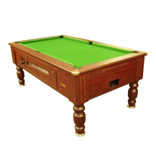 English Pool Tables - Richmond Coin Operated Pool Table - Mahogany