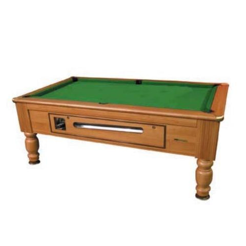Richmond Coin Operated Pool Table   Walnut