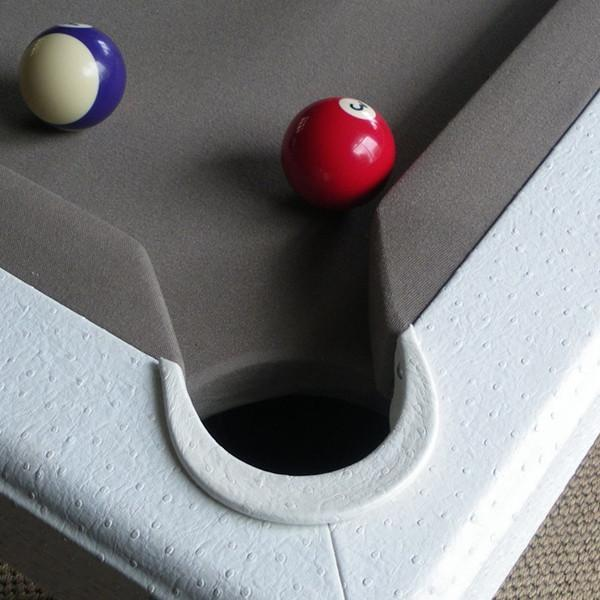 English Pool Tables - Toulet Leather White Crocodile 7ft English Pool Table