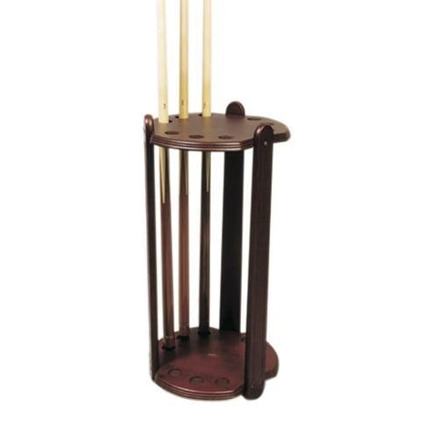 Deluxe Circular Cue Stand - Black, Brown or Mahogany