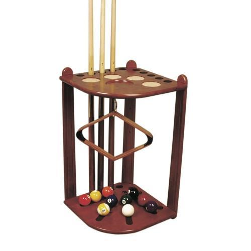 Gamesroom Accessories - Deluxe Corner Cue Stand - Black Or Maple