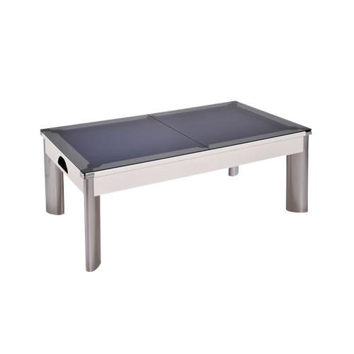 Pool Dining Tables - 7ft DPT Fusion Outdoor English Pool Dining Table - White