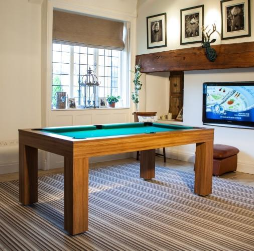 Fortuna Duo Milano Pool Dining Table Ft Ft MidOak Finish - Milano pool table