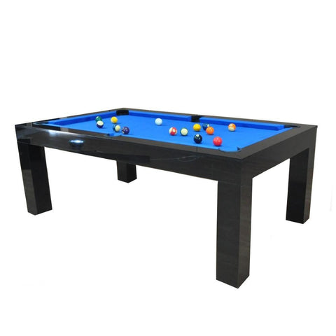 Duo Milano Pool Table Diner - Piano Black Gloss