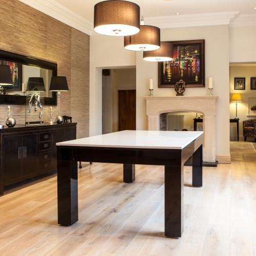 Fortuna Duo Milano Pool Dining Table Ft Ft High Gloss Piano - Milano pool table